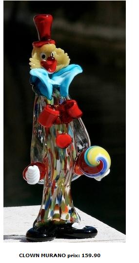 Clown Verres Murano Mutzig